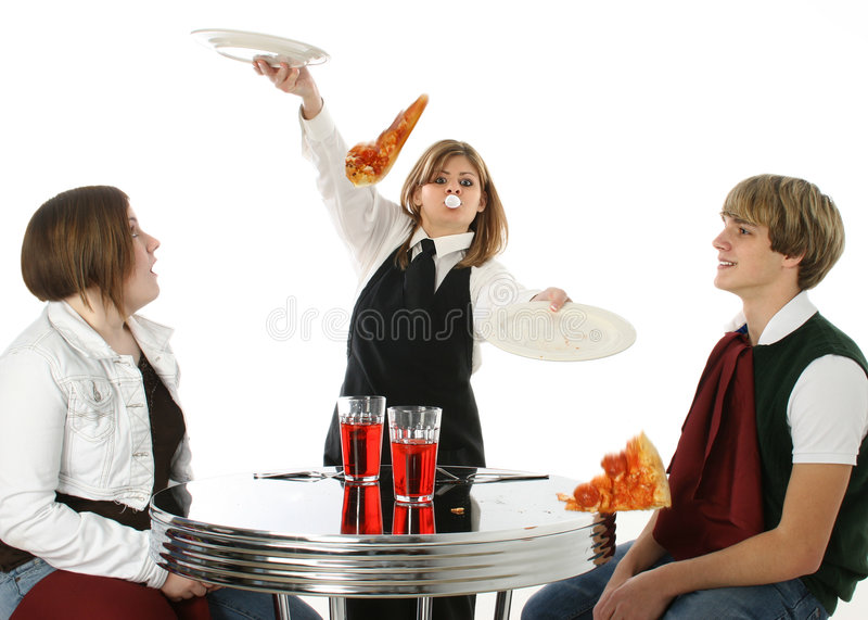 αδέξια σερβιτόρα στοκ εικόνα