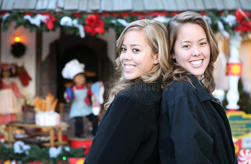 αδελφές Χριστουγέννων στοκ εικόνες
