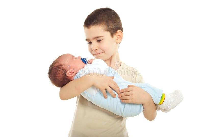 αδελφός αγοριών η εκμετά&la στοκ φωτογραφίες με δικαίωμα ελεύθερης χρήσης