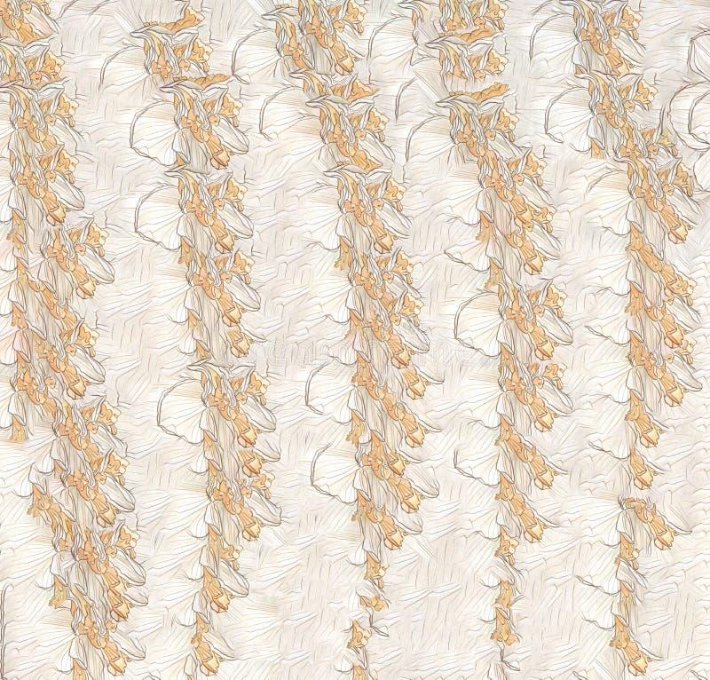 Αδιάλειπτο κίτρινο καφέ χρώμα χρώματος που σχεδιάστηκε αφηρημένο με χρώμα νερού, με φόντο διαβάθμισης με γραμμή ροής στοκ φωτογραφία