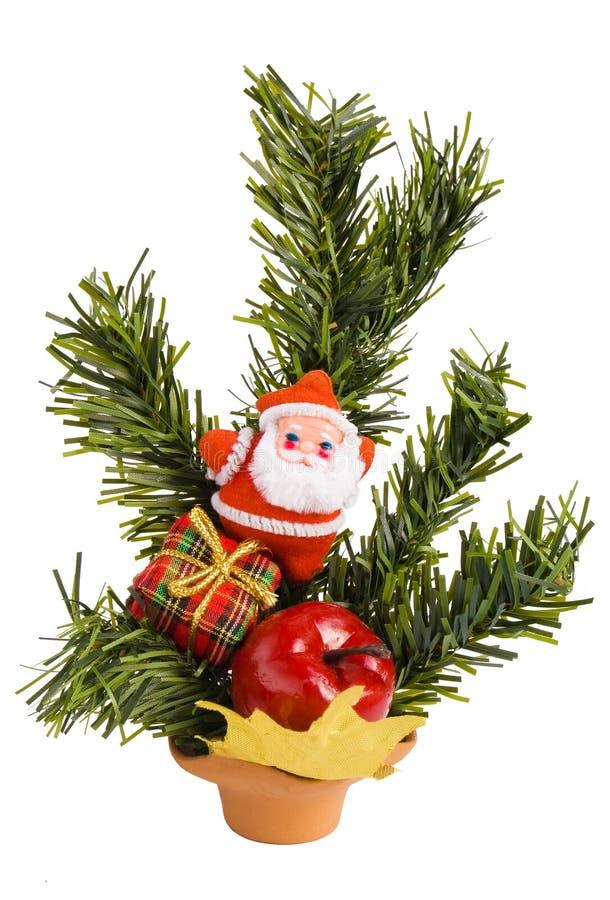 αειθαλές santa δώρων Claus κιβωτίω στοκ εικόνες με δικαίωμα ελεύθερης χρήσης