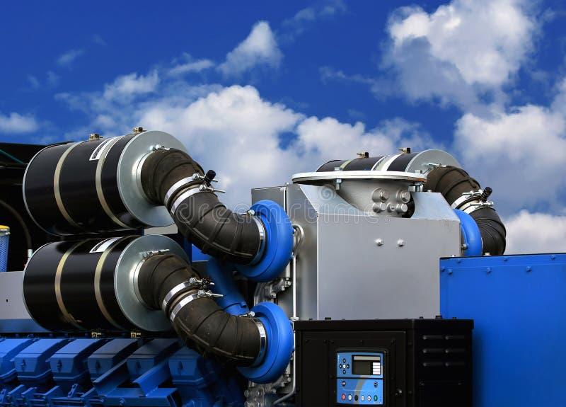 Αεραγωγοί εισαγωγής του συνόλου γεννητριών για τις εγκαταστάσεις παραγωγής ενέργειας στοκ εικόνες με δικαίωμα ελεύθερης χρήσης