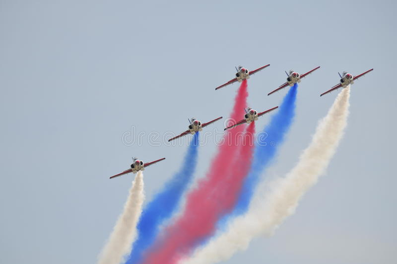 Αεριωθούμενα ακροβατικά μαχητών ROCAF στοκ εικόνα με δικαίωμα ελεύθερης χρήσης