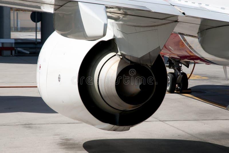 Αεριωθούμενη μηχανή αεροπλάνων στοκ φωτογραφία