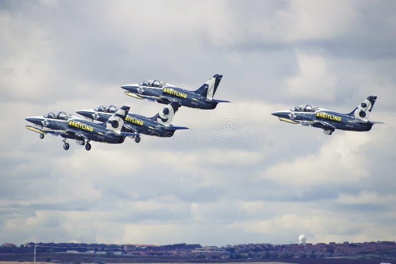 Αεριωθούμενη ομάδα Breitling στοκ εικόνες με δικαίωμα ελεύθερης χρήσης