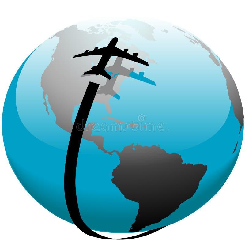 αεριωθούμενο αεροπλάν&omic απεικόνιση αποθεμάτων