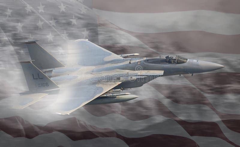 Αεριωθούμενο αεροπλάνο Πολεμικής Αεροπορίας USAF Ηνωμένες Πολιτείες στοκ φωτογραφία