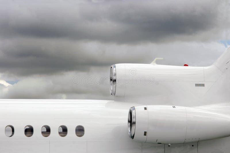αεριωθούμενο λευκό στοκ φωτογραφία με δικαίωμα ελεύθερης χρήσης
