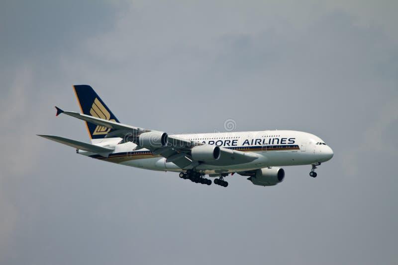 αερογραμμές Σινγκαπούρη στοκ εικόνα με δικαίωμα ελεύθερης χρήσης