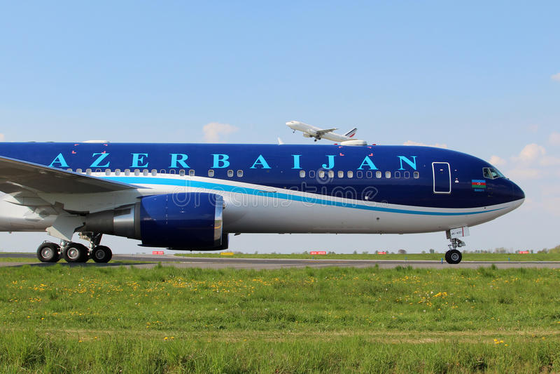 Αερογραμμές του Αζερμπαϊτζάν στοκ εικόνα