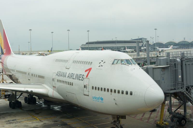 Αερογραμμές Asiana της Νότιας Κορέας στοκ εικόνα με δικαίωμα ελεύθερης χρήσης