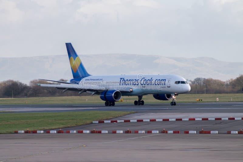 Αερογραμμές Boeing 757-200 ThomasCook στοκ εικόνες