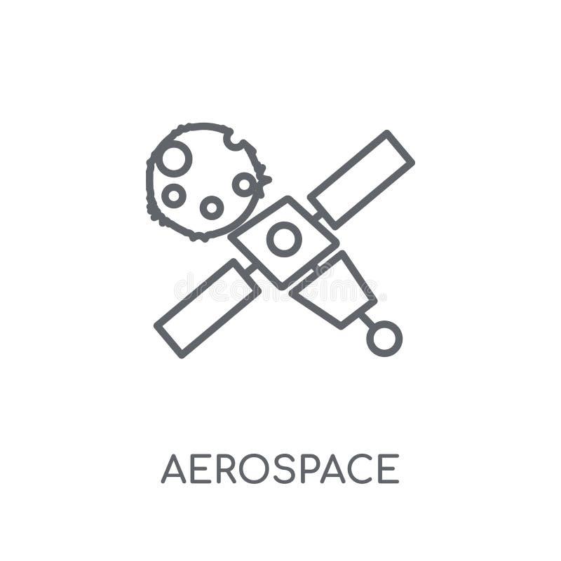 αεροδιαστημικό γραμμικό εικονίδιο Σύγχρονη έννοια λογότυπων περιλήψεων αεροδιαστημική επάνω ελεύθερη απεικόνιση δικαιώματος