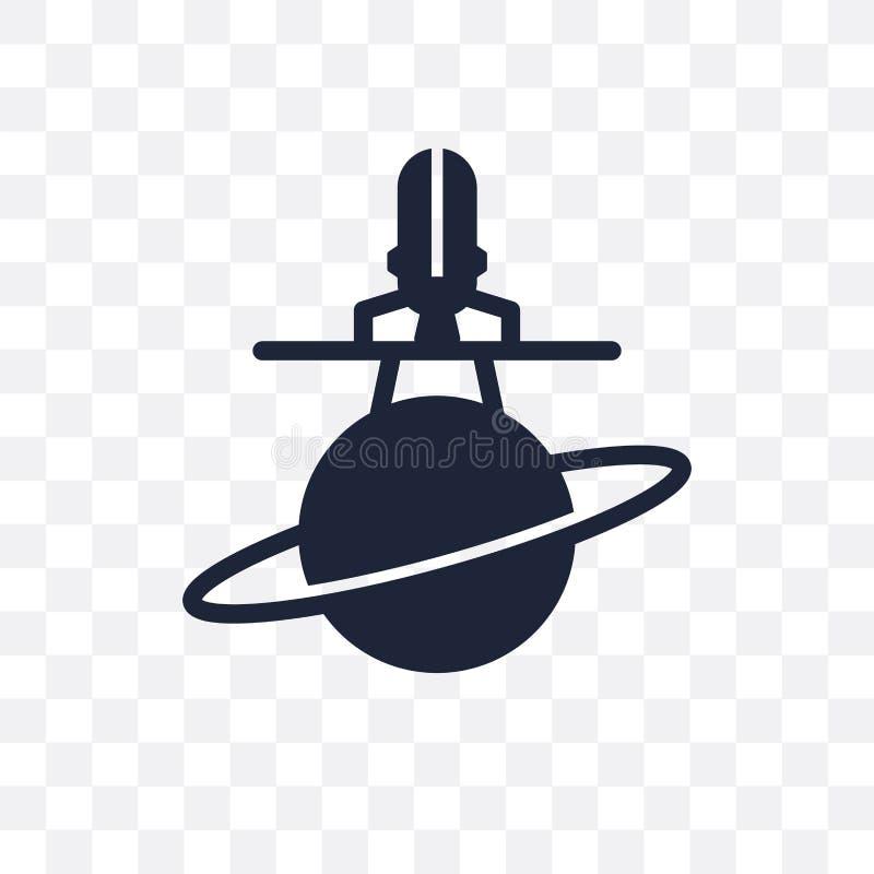 αεροδιαστημικό διαφανές εικονίδιο αεροδιαστημικό σχέδιο συμβόλων από Astrono απεικόνιση αποθεμάτων