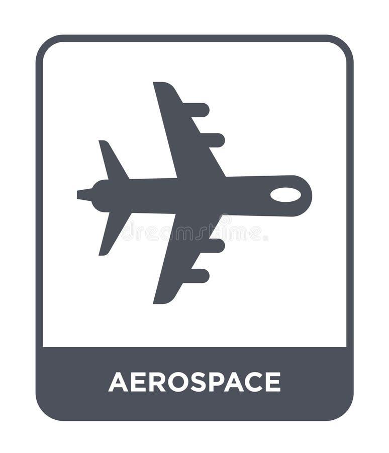 αεροδιαστημικό εικονίδιο στο καθιερώνον τη μόδα ύφος σχεδίου αεροδιαστημικό εικονίδιο που απομονώνεται στο άσπρο υπόβαθρο αεροδια διανυσματική απεικόνιση
