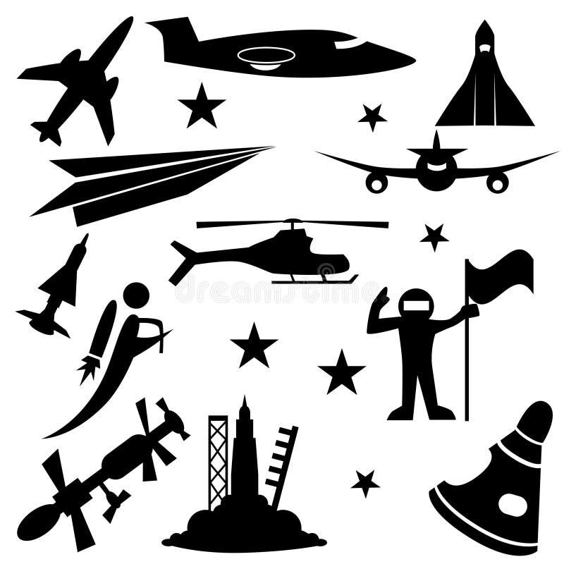 αεροδιαστημικό σύνολο &epsi διανυσματική απεικόνιση