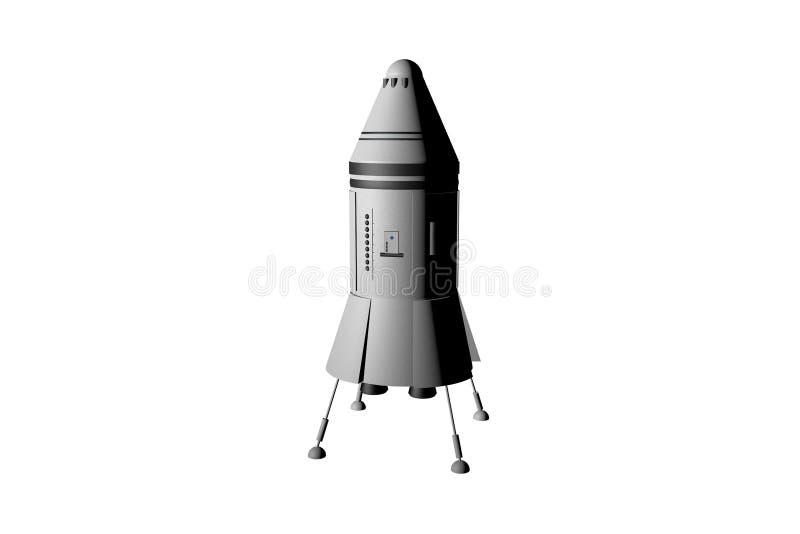 Αεροδιαστημικό όχημα που απομονώνεται στο άσπρο υπόβαθρο απεικόνιση αποθεμάτων