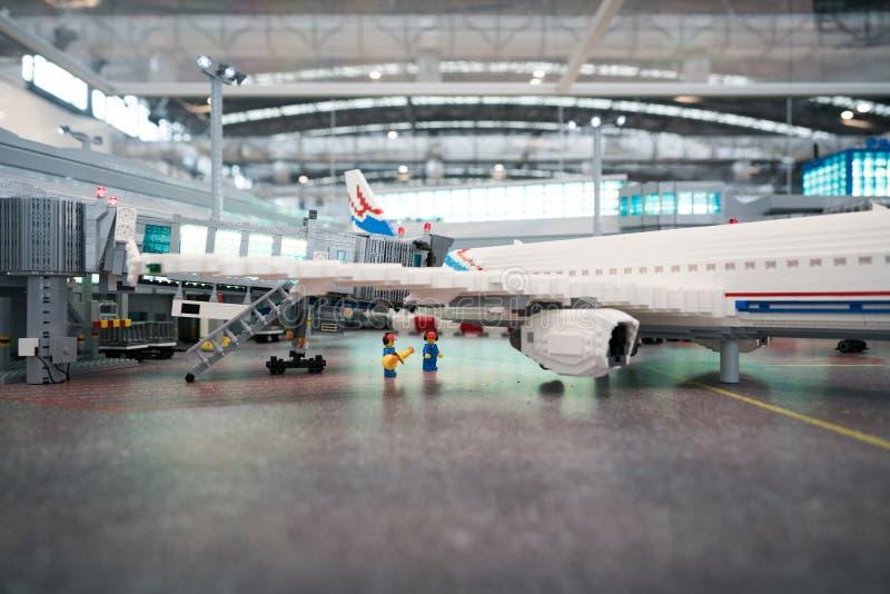 Αερολιμένας Lego στοκ εικόνα με δικαίωμα ελεύθερης χρήσης