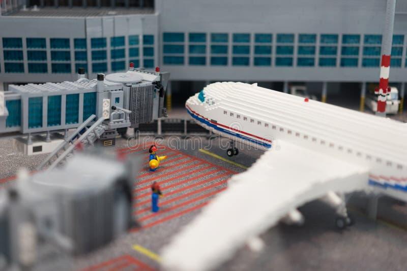 Αερολιμένας Lego στοκ φωτογραφία
