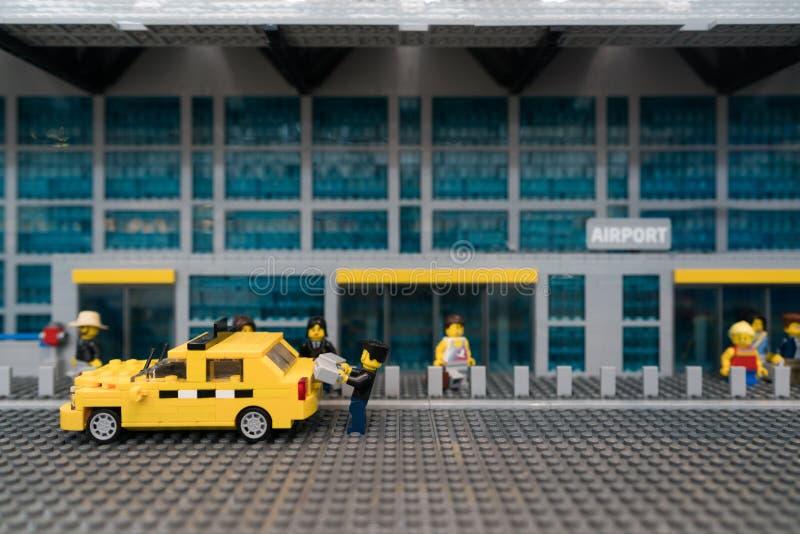Αερολιμένας Lego στοκ εικόνα
