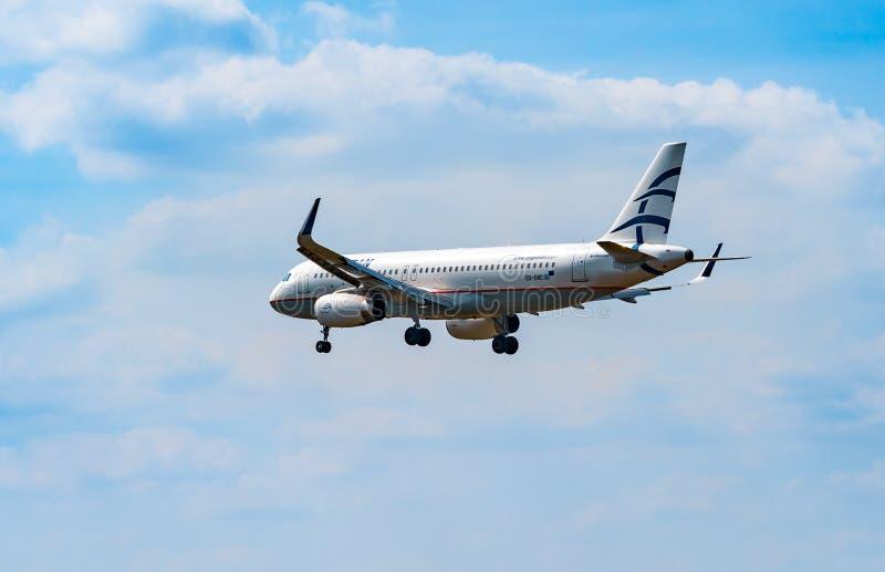 ΑΕΡΟΛΙΜΕΝΑΣ ΦΡΑΝΚΦΟΥΡΤΗ, ΓΕΡΜΑΝΙΑ: ΣΤΙΣ 23 ΙΟΥΝΊΟΥ 2017: Αιγαίος αέρας airbus A320 στοκ φωτογραφίες