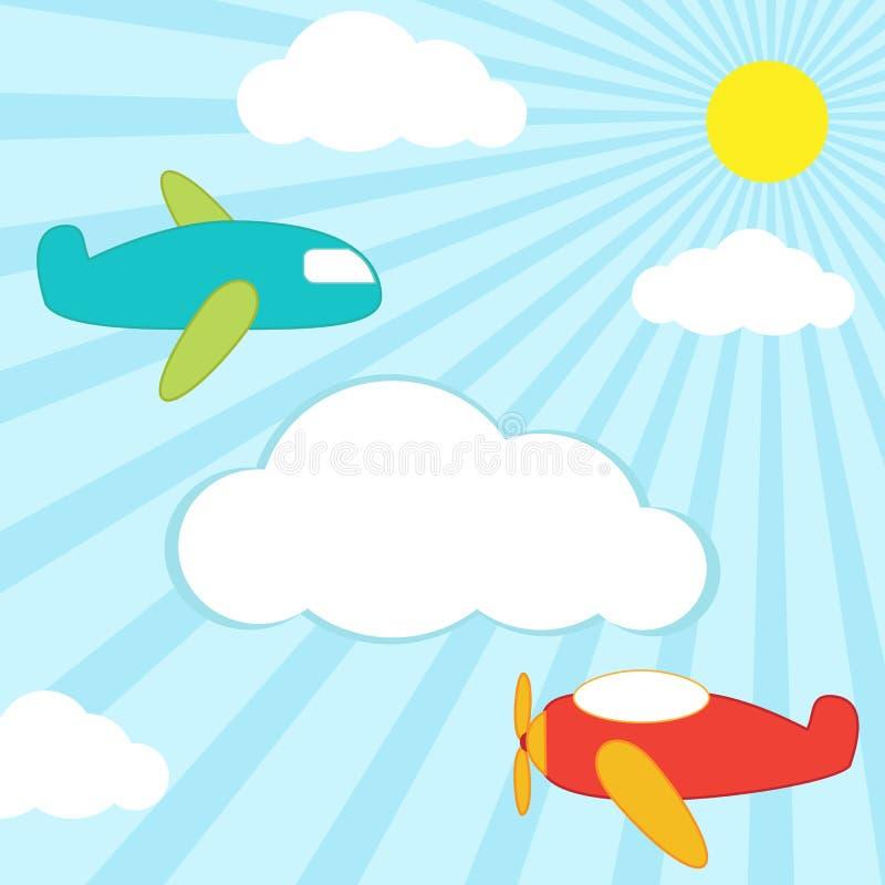 αεροπλάνα ανασκόπησης απεικόνιση αποθεμάτων