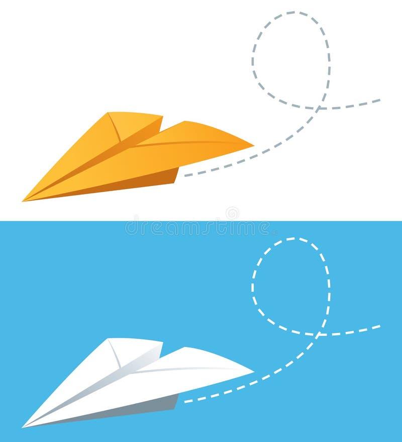 αεροπλάνα εγγράφου απεικόνιση αποθεμάτων