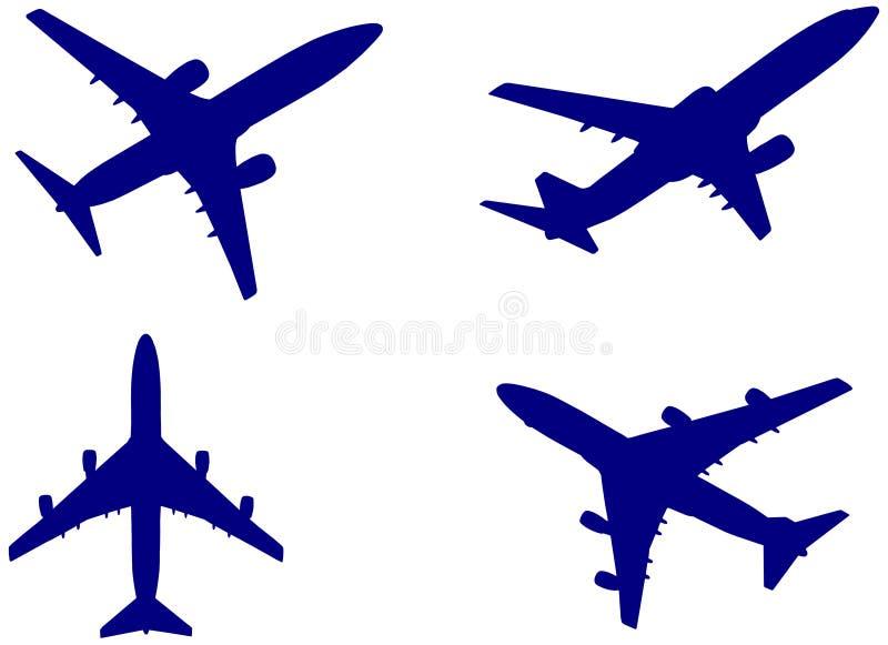 αεροπλάνα διανυσματική απεικόνιση