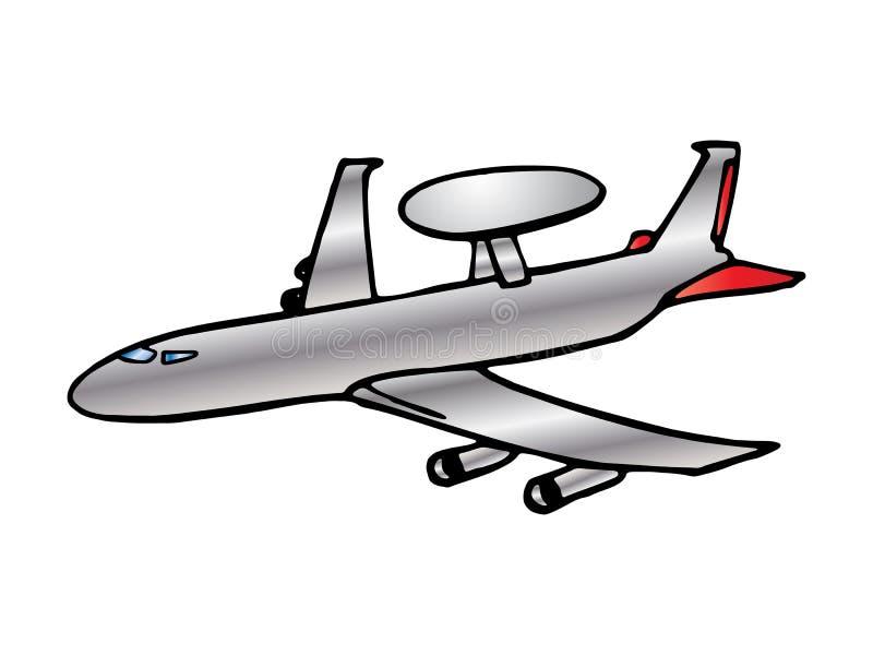 αεροπλάνο αεριωθούμεν&omeg απεικόνιση αποθεμάτων