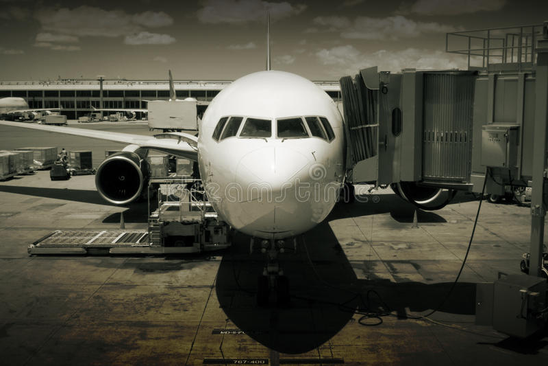 αεροπλάνο αερολιμένων στοκ φωτογραφίες με δικαίωμα ελεύθερης χρήσης