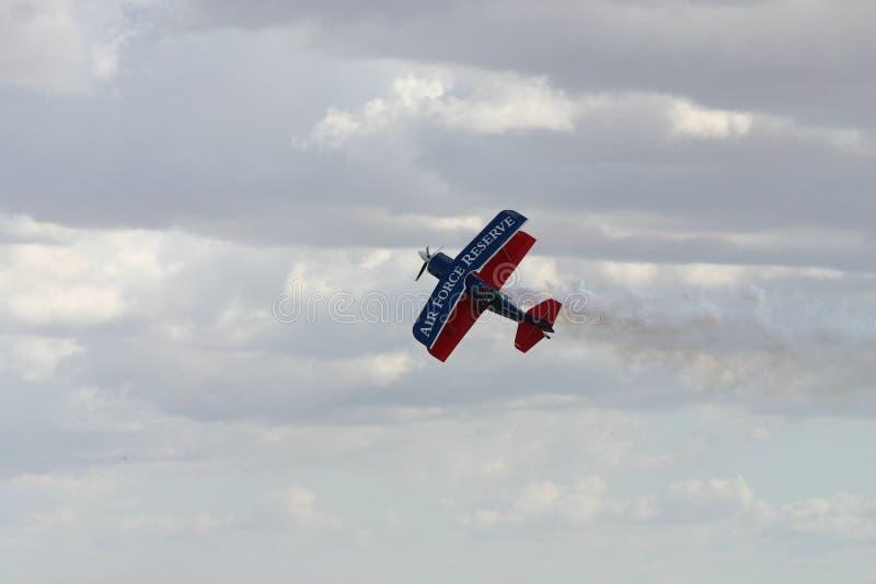Αεροπλάνο ακροβατικής επίδειξης στοκ εικόνα