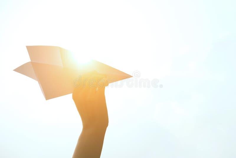 αεροπλάνο εγγράφου στοκ φωτογραφία με δικαίωμα ελεύθερης χρήσης