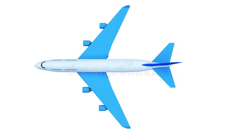 Αεροπλάνο επιβατών που πετά μεταξύ των σύννεφων σωρειτών υψηλών στον ουρανό ενάντια στο λάμποντας ήλιο στην ημέρα η τρισδιάστατη  απεικόνιση αποθεμάτων