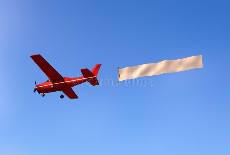 Αεροπλάνο με ένα μήνυμα ελεύθερη απεικόνιση δικαιώματος