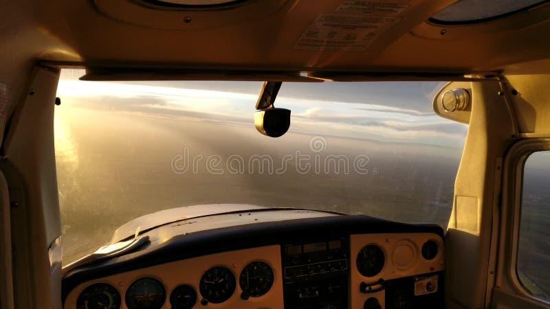 Αεροπλάνο πιλοτηρίων στοκ φωτογραφία με δικαίωμα ελεύθερης χρήσης