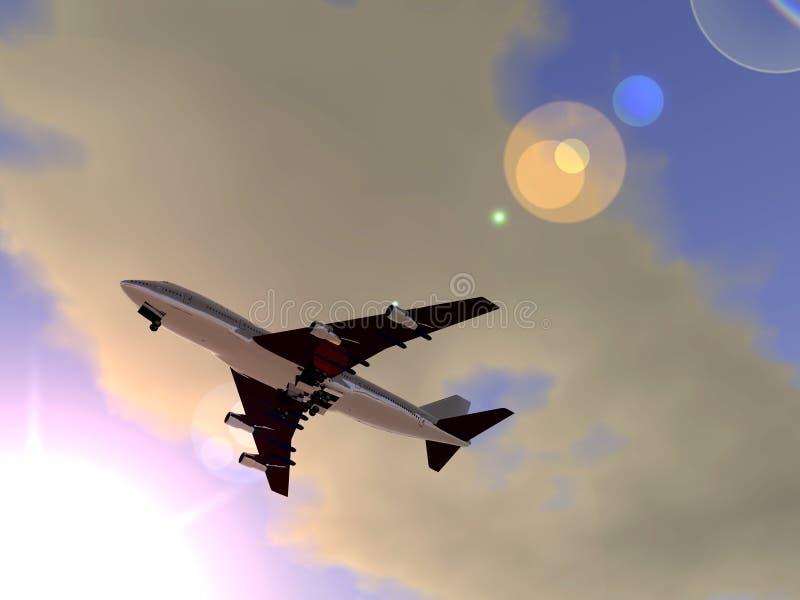Αεροπλάνο που πετά 2 διανυσματική απεικόνιση