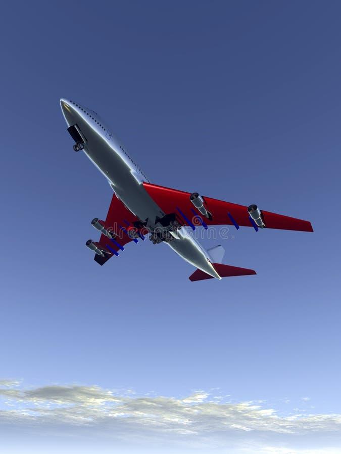 Αεροπλάνο που πετά 63 διανυσματική απεικόνιση