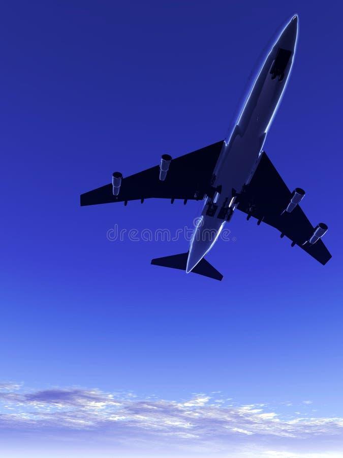 Αεροπλάνο που πετά 75 απεικόνιση αποθεμάτων