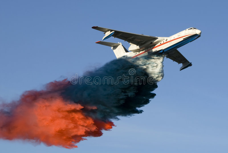 αεροπλάνο πυρκαγιάς στοκ φωτογραφίες