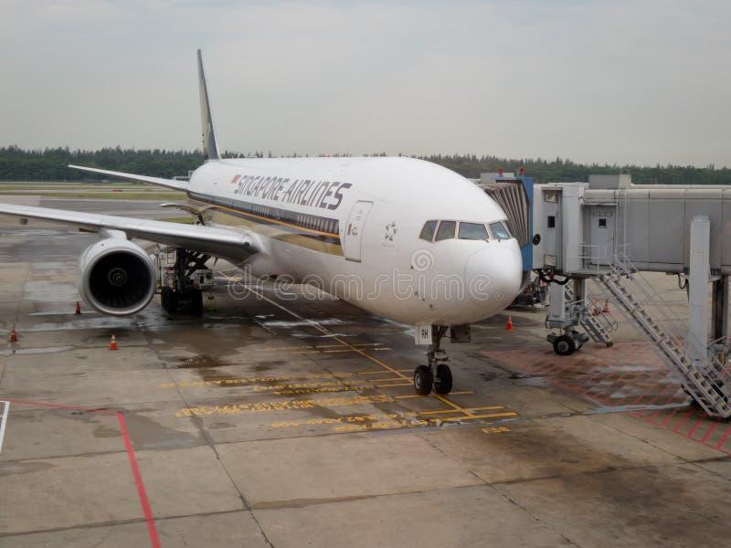 αεροπλάνο Σινγκαπούρη α&ep στοκ εικόνα