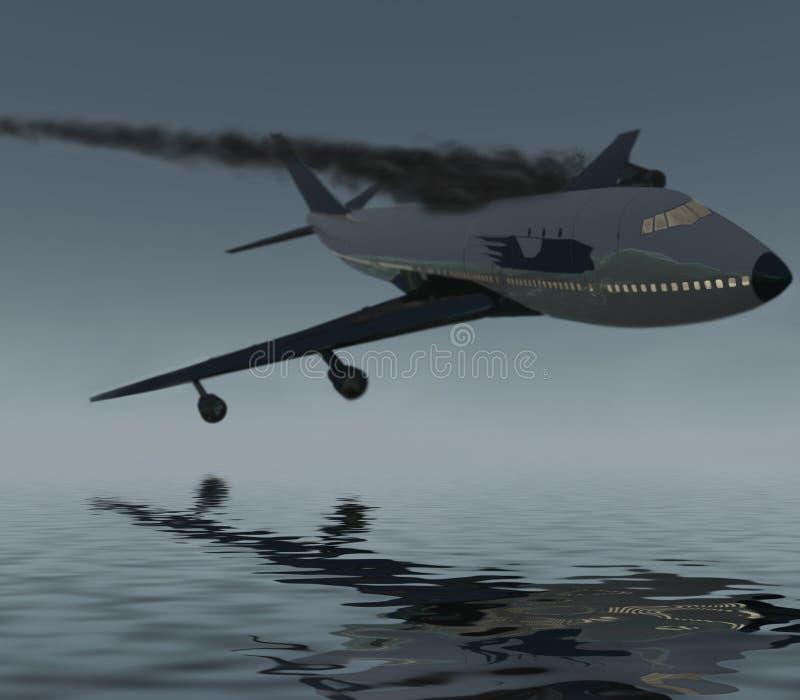αεροπλάνο συντριβών στοκ εικόνες με δικαίωμα ελεύθερης χρήσης