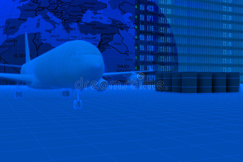 Download αεροπλάνο απεικόνιση αποθεμάτων. εικονογραφία από πέταγμα - 13185695