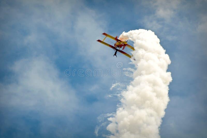 αεροπλάνο acrobatics στοκ εικόνες