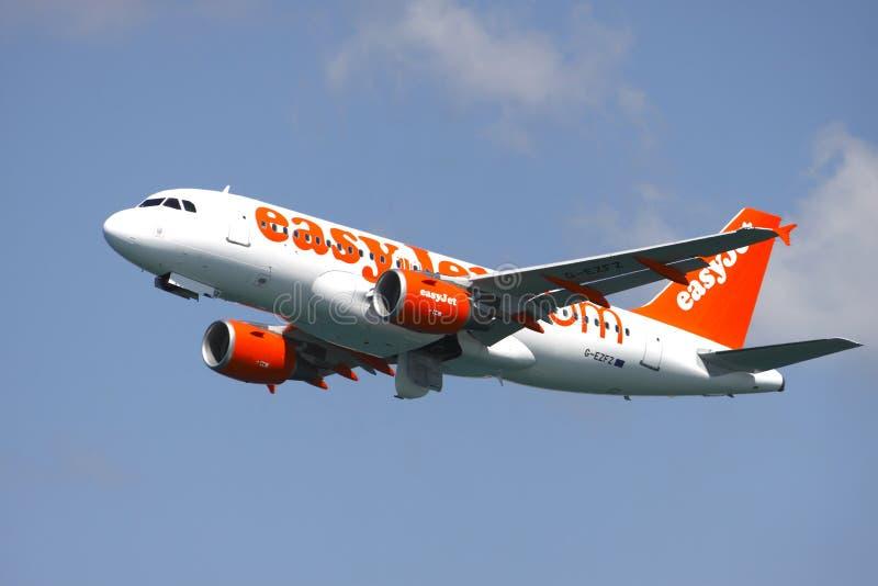 αεροπλάνο easyjet στοκ εικόνες με δικαίωμα ελεύθερης χρήσης