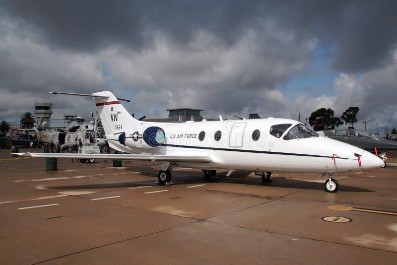 Αεροπλάνο Jayhawk Raytheon τ-1A στοκ εικόνα