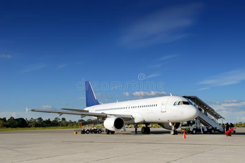 αεροπλάνο tarmac στοκ φωτογραφία με δικαίωμα ελεύθερης χρήσης