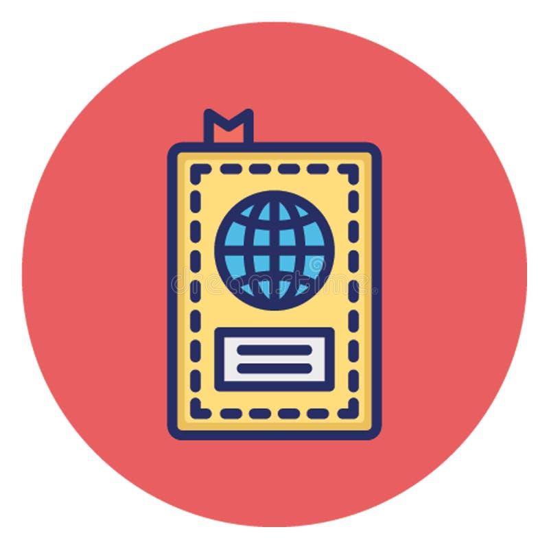 Αεροπορικό εισιτήριο, διανυσματικό εικονίδιο διαβατηρίων που μπορεί εύκολα να εκδώσει διανυσματική απεικόνιση