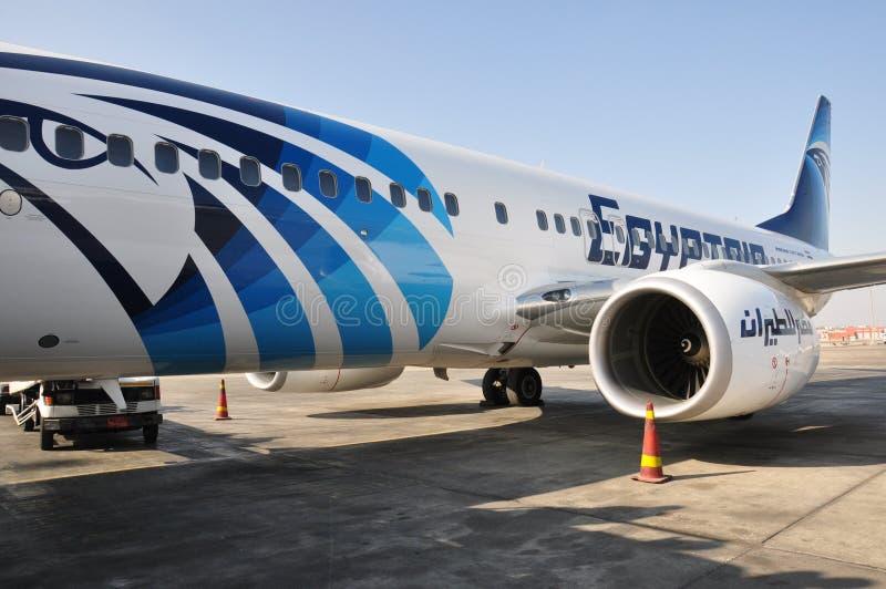 Αεροπλάνο αέρα της Αιγύπτου στοκ φωτογραφίες με δικαίωμα ελεύθερης χρήσης