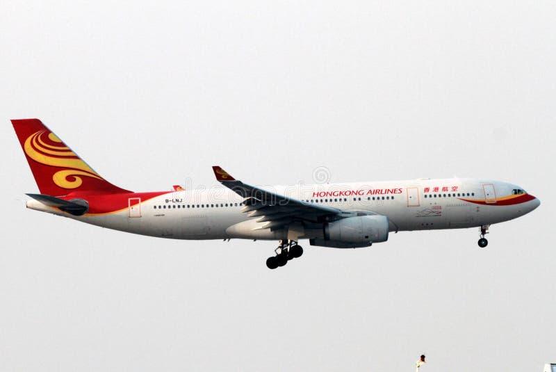 Αεροπλάνο αερογραμμών Χονγκ Κονγκ στοκ φωτογραφία