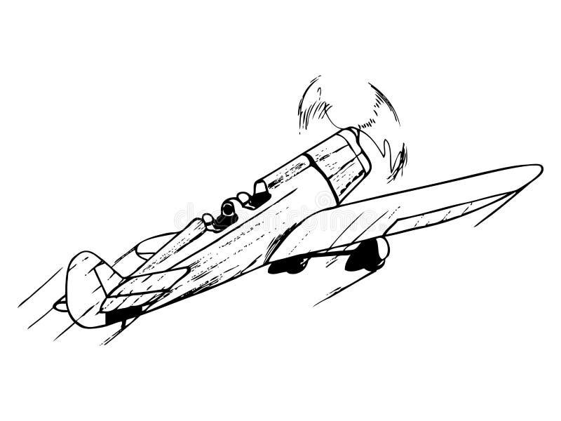 Αεροπλάνο κατάρτισης κατά την πτήση ελεύθερη απεικόνιση δικαιώματος